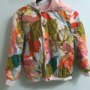 Floral flip rain jacket